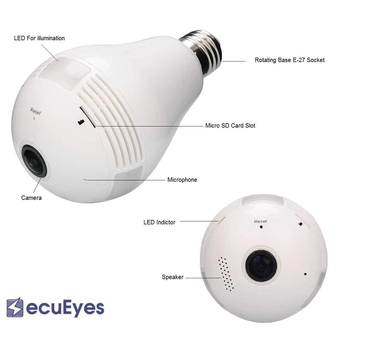 360° FishEye Security Bulb Camera
