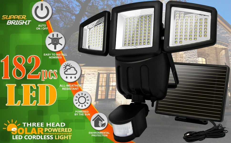 Dual Head Outdoor Motion Sensor Light