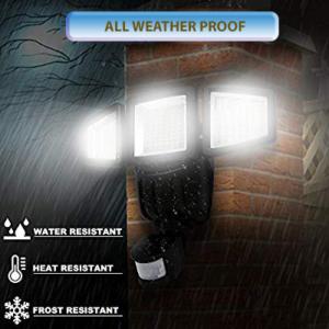 social 1 300x300 - Tripple Dual Head Outdoor Motion Sensor Fire Flood Light